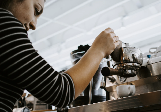 Making Coffee in Coworking Space