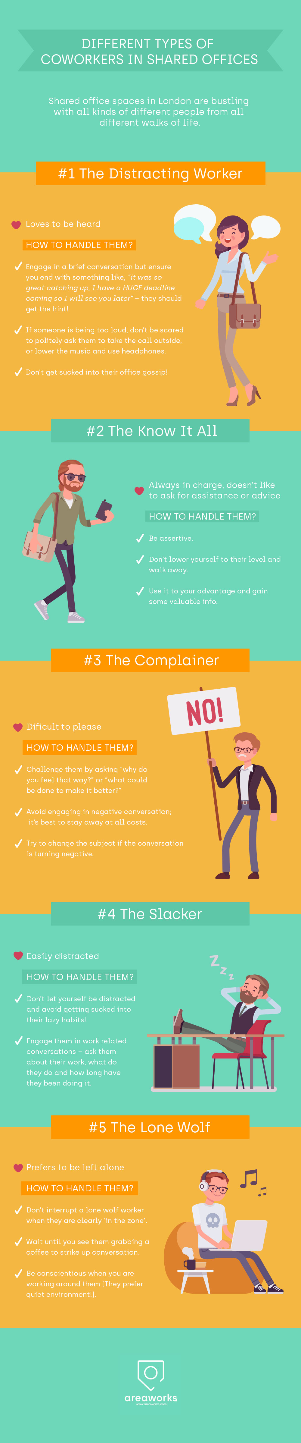 5 Types of Coworkers in Shared Offices